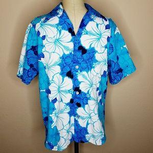 Other - Hukilau Fashions | VTG Blue Floral Hawaiian Shirt